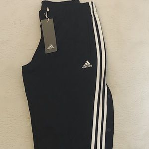 Adidas 3 stripe snap pants